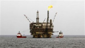 The Bouri oilfield, Libya's biggest offshore field, is seen 130 km (81 miles) north of Tripoli October 9, 2013. REUTERS Photo
