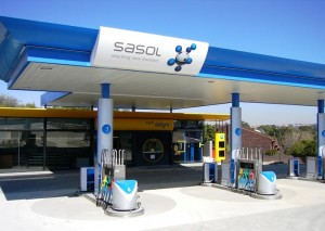Sasol filling station in Cape Town, South Africa