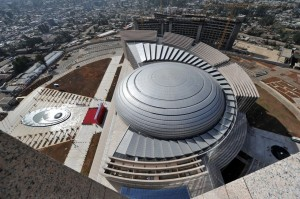 The new US$200 millon African Union Headquarters in Addis Ababa, Ethiopia