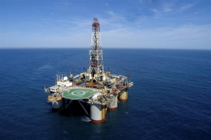 An Anadarko deep-water drilling rig off the coast of Brazil