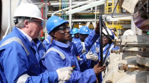 Former Ghanaian President Atta Mills at the 2010 launch of oil production at Jubilee field