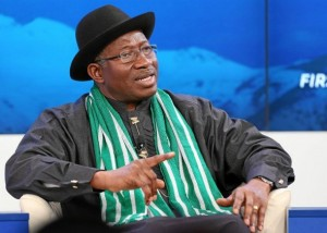 Goodluck Ebele Jonathan, President of Nigeria discusses the future of the African continent during the session 'Africa's Next Billion' at the 2014 World Economic Forum in Davos, Switzerland. January 23, 2014.