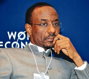 Nigerian Central Bank governor, Lamido Sanusi is attending the 2014 World Economic Forum in Davos, Switzerland.