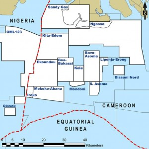 Chinese-owned Addax Petroleum announces oil and gas discovery at the Padouk-1X well, Iroko Block, Cameroon.