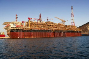 Total's Pazflor Floating Production Storage and Offloading vessel, FPSO