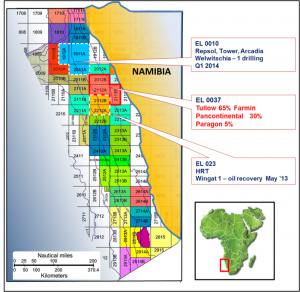 3D seismic survey of licence areas offshore Namibia.