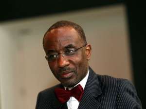 Nigeria's Central Bank governor Sanusi Lamido Sanusi attends an interview with Reuters at the World Islamic Economic Forum in London, October 30, 2013.