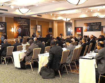 Participants attending the annual Sub-Saharan Africa Oil and Gas Conference in Houston, USA.