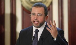 Egypt's Prime Minister Hisham Qandil speaks at a press conference (Reuters).