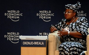 Nigeria's Minister of Finance, Ngozi Okonjo-Iweala, during a debate at the ongoing World Economic Forum for Africa (WEF) in Abuja.