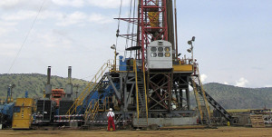 Drilling for oil in western Uganda. Uganda has begun moving people to make way for the construction of an oil refinery to be commissioned in 2017. File Photo.