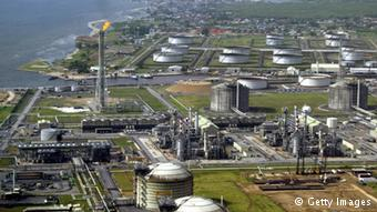 Shell's oil and gas terminal on Bonny Island in southern Nigeria's Niger Delta.